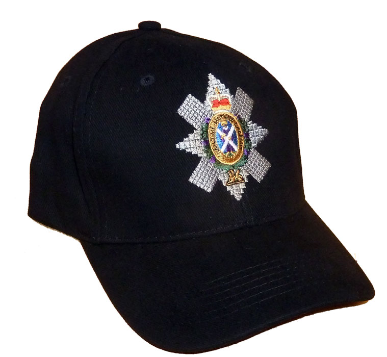 The Black Watch Baseball Cap With Embroidered Cap Badge