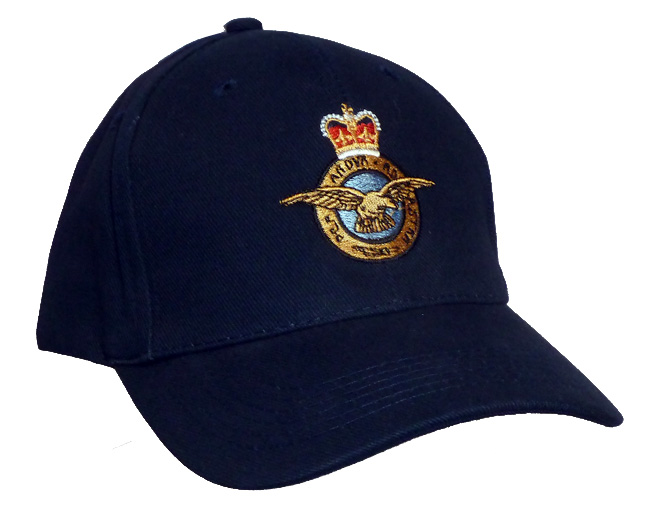The Royal Air Force Baseball Cap Embroidered With The