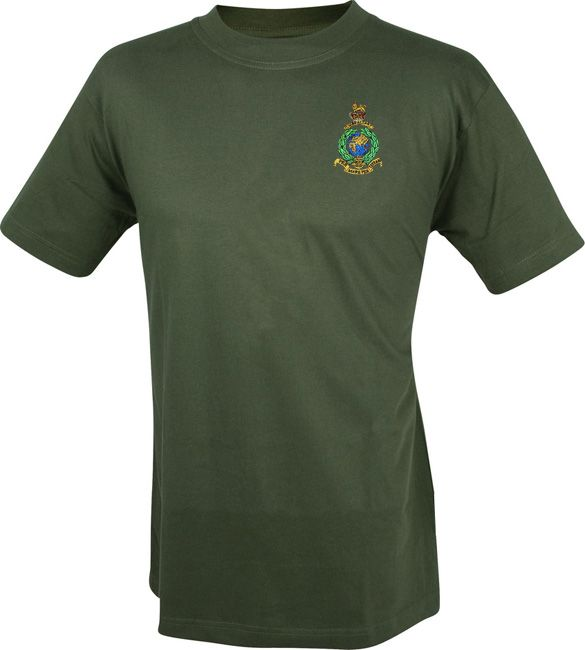royal marines military tshirt with embroidered cap badge