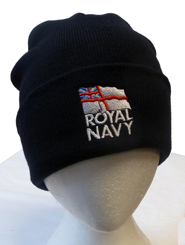 88d254c94ed ... shop the royal navy shop woolen beanie hat with the royal navy logo  embroidered on front