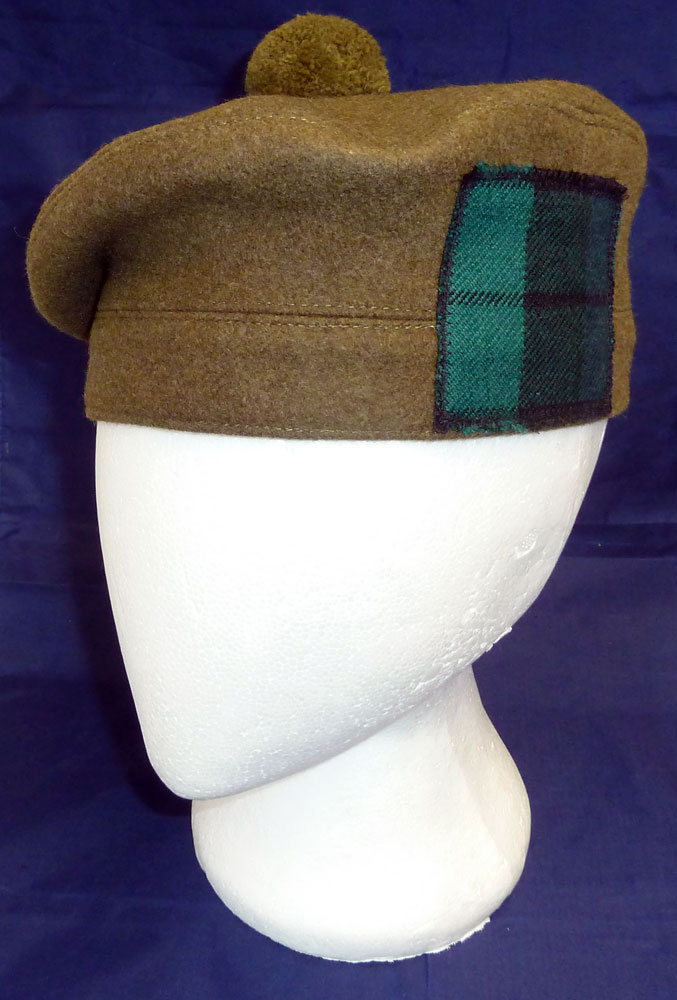 scottish military tam oshanter hat available with